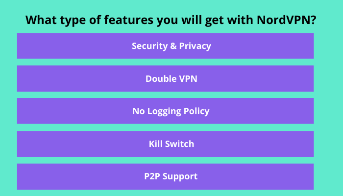 WHAT TYPE OF FEATURES YOU WILL GET WITH NORD VPN