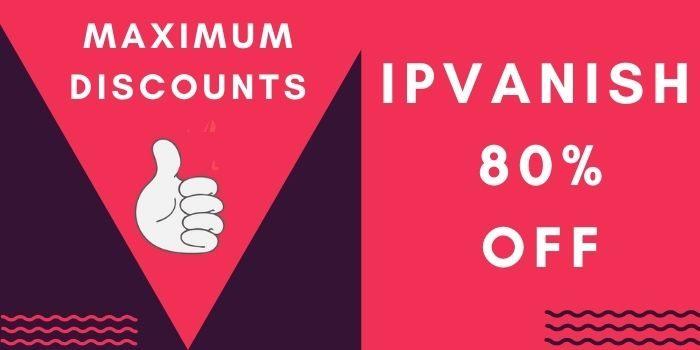 ipvanish 80% off