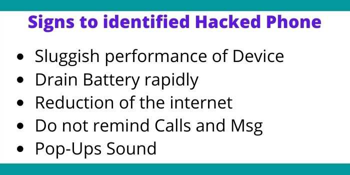 Signs to identified Hacked Phone
