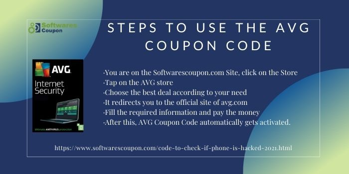 Steps to use the AVG Coupon Code