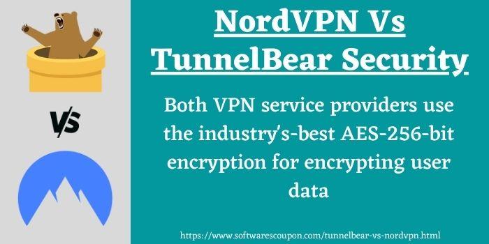NordVPN Vs TunnelBear Security