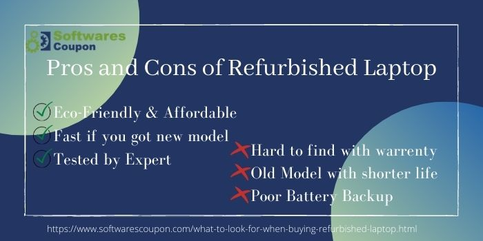 Pros and Cons of refurbished laptop